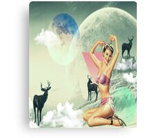 In the moon of Love Canvas Print