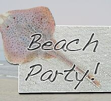 Beach Party Invitation - Little Skate by MotherNature