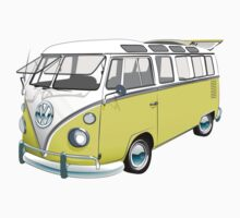 21 Window Volkswagen Bus by Sarah Caudle