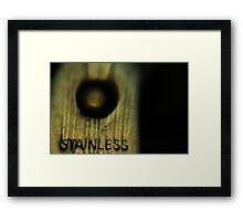 sharp stainless steel scissors Framed Print