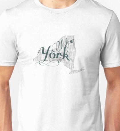 New York State Typography Unisex T-Shirt