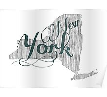 New York State Typography Poster
