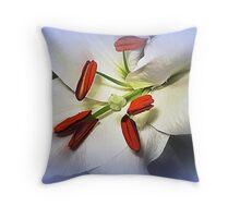White  Oriental Lily  Throw Pillow