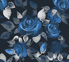 Crazy roses. Blue by Gribanessa