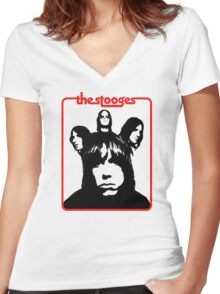 The Stooges Shirt Women's Fitted V-Neck T-Shirt