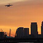 Landing over London City by J0KER