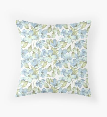 Branch with delicate flowers.  Color 2 Throw Pillow