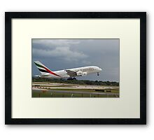 Emirates A380 Framed Print
