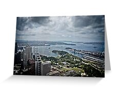 Sydney Harbour from the 360 tower Greeting Card