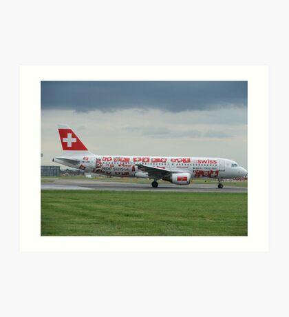 Swiss World cup Plane Art Print