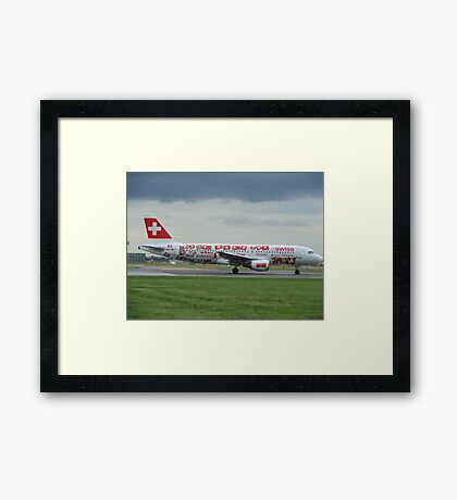 Swiss World cup Plane Framed Print