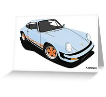 My own 911 in light blue Greeting Card