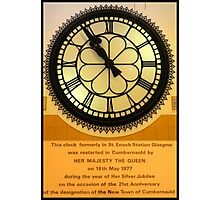 The Clock in the Plaza Photographic Print