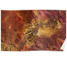 rock patterns at gantheaume point, broome Poster