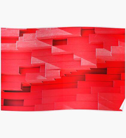 Red Blocks Poster