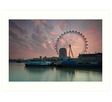 London Eye Sunrise Art Print