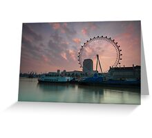 London Eye Sunrise Greeting Card