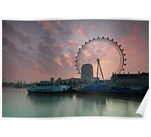 London Eye Sunrise Poster