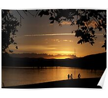 Lake Burley Griffin Sunset. Poster