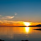 Sunset over the point of Sleat on the Isle of Skye by Hugh McKean