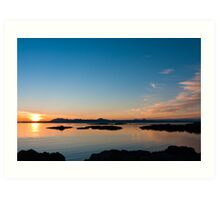 Sunset over the point of Sleat on the Isle of Skye Art Print