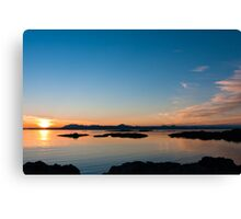 Sunset over the point of Sleat on the Isle of Skye Canvas Print