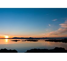 Sunset over the point of Sleat on the Isle of Skye Photographic Print
