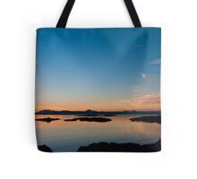Sunset over the point of Sleat on the Isle of Skye Tote Bag