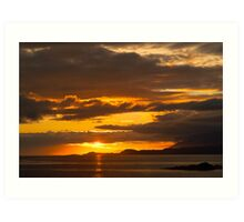 Sunset, Point of Sleat, Isle of Skye, Inner Hebrides, Scotland, Art Print