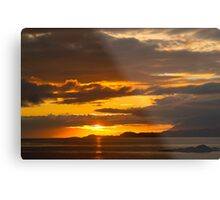 Sunset, Point of Sleat, Isle of Skye, Inner Hebrides, Scotland, Metal Print
