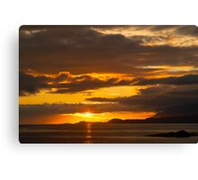Sunset, Point of Sleat, Isle of Skye, Inner Hebrides, Scotland, Canvas Print