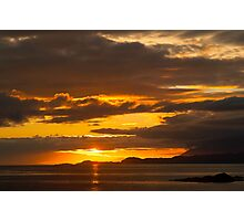 Sunset, Point of Sleat, Isle of Skye, Inner Hebrides, Scotland, Photographic Print