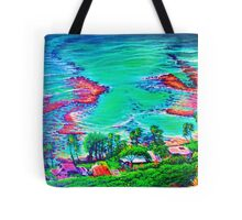 Down Diamond Head Drive Tote Bag