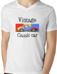 Vintage classic car Mens V-Neck T-Shirt