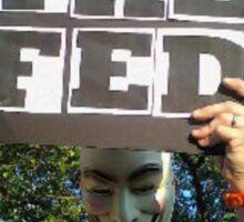 Guy Fawkes Anti FED Sticker