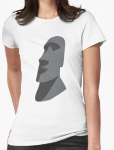 Easter Island Head  Womens Fitted T-Shirt