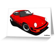 My own 911 in red Greeting Card