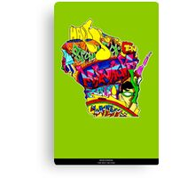 Wisconsin State, includes colorful Wisconsin State icons Canvas Print