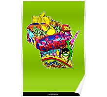 Wisconsin State, includes colorful Wisconsin State icons Poster