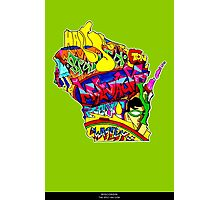 Wisconsin State, includes colorful Wisconsin State icons Photographic Print