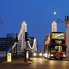 Chelsea Bridge with Red Double-decker by Kasia Nowak