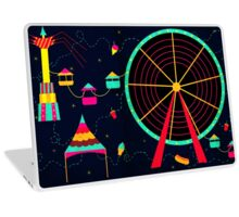 The Fair at Night Laptop Skin