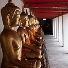 Buddha's at Wat Pho Temple by Justin Knewstub