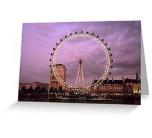 London Eye at Sunset Greeting Card