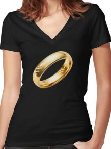 Reptile Ring to Rule Them All Women's Fitted V-Neck T-Shirt