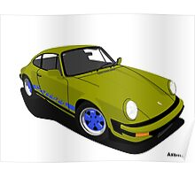 My own 911 in olive green 2 Poster