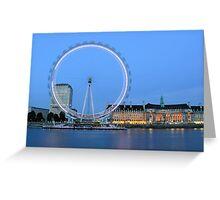 London Eye at Dusk Greeting Card