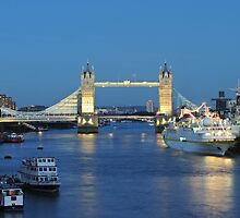 Tower Bridge at Dusk by Kasia Nowak