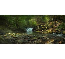 Lower Twin Falls Panorama September 2011 Photographic Print