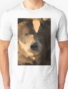 brown bear abstract Unisex T-Shirt